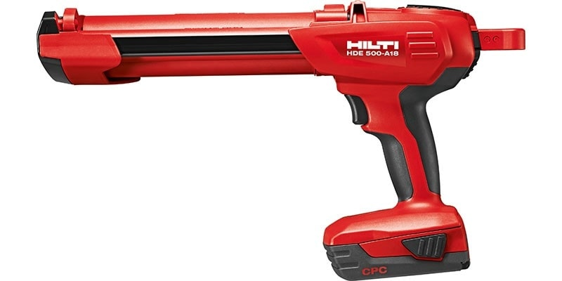 HDE 500-A22 cordless battery dispenser as part of the Hilti SafeSet system