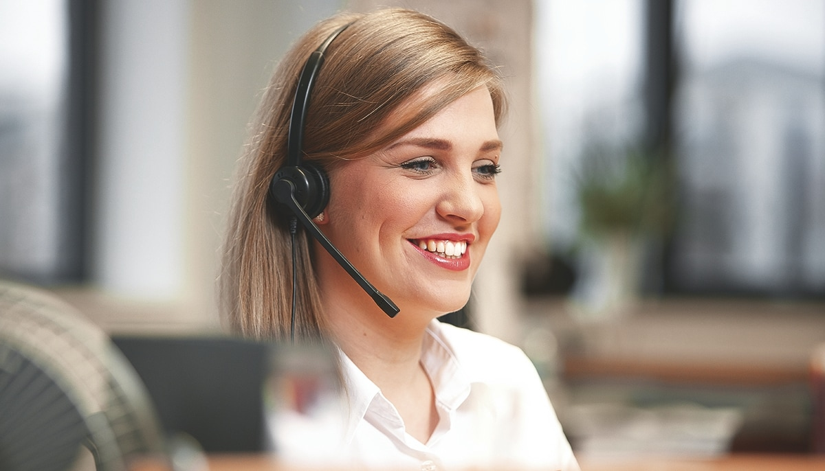 Dedicated customer service agent just a phone call away